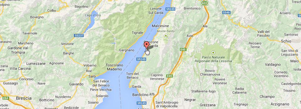 Mappa posizione Oleificio Piccoli Produttori a Castelletto sul Garda